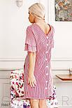 Прямое платье в вертикальную полоску красное, фото 3