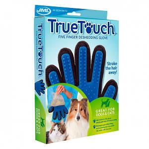 Перчатка для вычесывания шерсти животных True Touch  на правую руку
