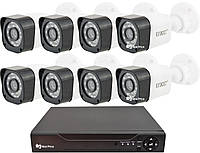 Комплект видеонаблюдения UKC D001-8CH HD 1080P 3.6 мм 2 mp (8 камер)
