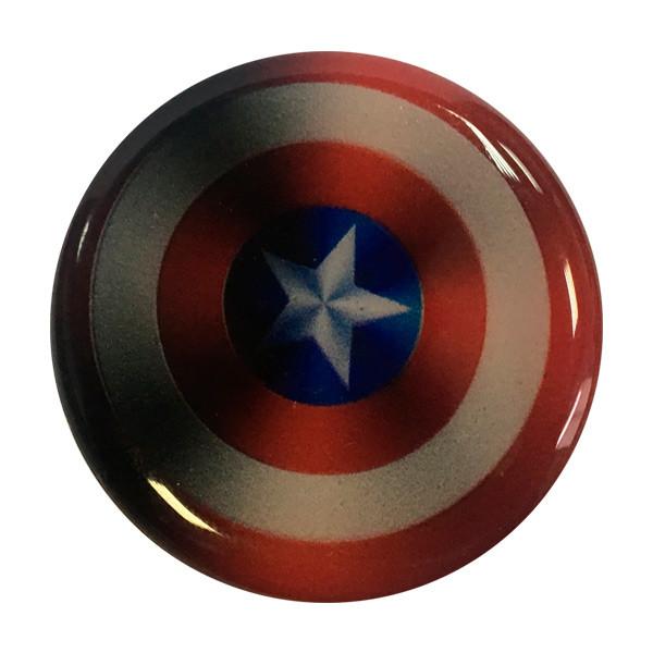 """Попсокет PopSocket 3D 3D """"Капитан Америка"""" №34 - Держатель для телефона Поп Сокет в блистере с липучкой 3М"""