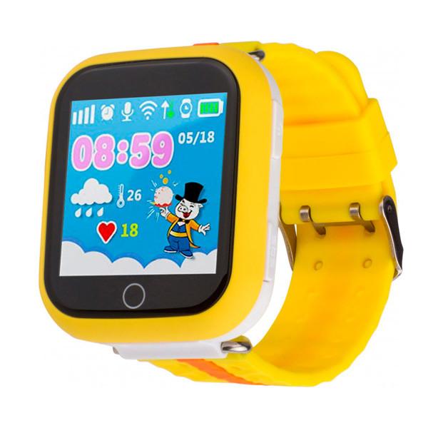 Детские часы с GPS SMART BABY WATCH Q100S Желтые