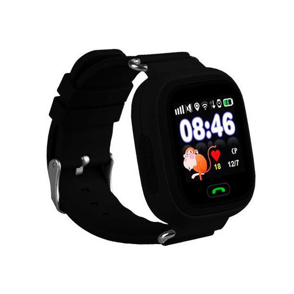 Детские часы с GPS SMART BABY WATCH 100 (Q90) Черные