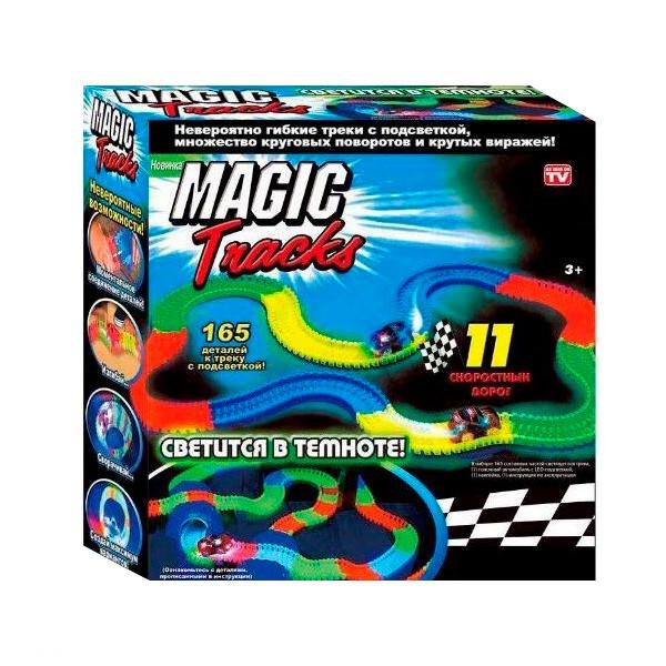 Гоночная трасса конструктор Magic Tracks 165 деталей + машинка