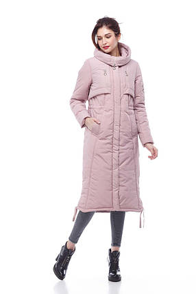 Зимнее пальто-пуховик для очень холодной зимы Большие размеры  42-54, фото 2