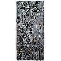 Ключница настенная в стиле лофт Подарок мужчине Ручная работа, фото 1