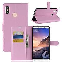 Чехол-книжка Litchie Wallet для Xiaomi Mi Max 3 Светло-розовый