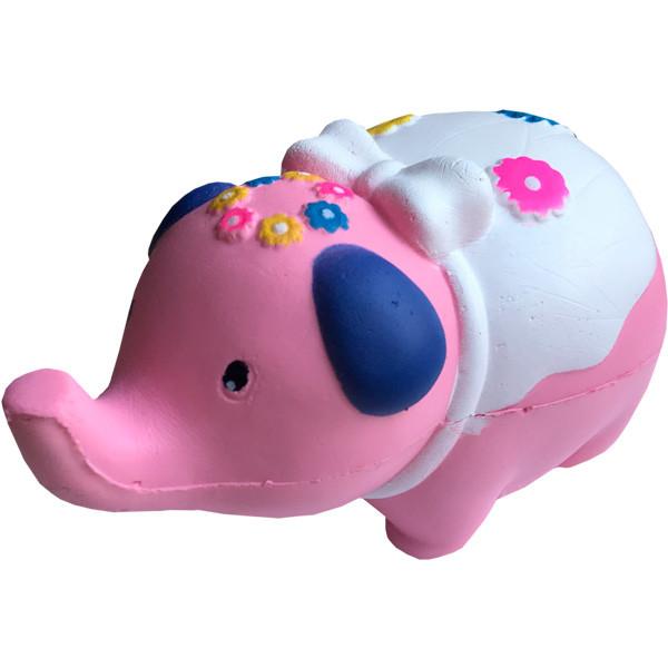 Мягкая игрушка антистресс Сквиши Squishy Слон Розовый