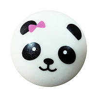 Мягкая игрушка антистресс Сквиши Squishy Панда с розовым бантом