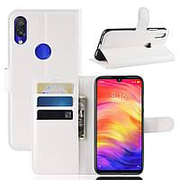 Чехол-книжка Litchie Wallet для Xiaomi Redmi Note 7 Белый