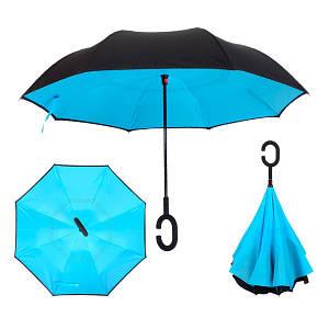 Зонт Наоборот - Зонт обратного сложения Up-brella Голубой №44