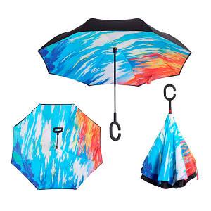 Зонт Наоборот - Зонт обратного сложения Up-brella Закат №47