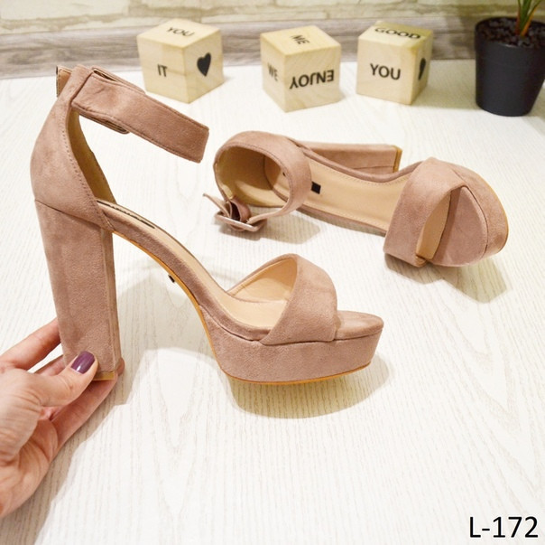39 р. Босоножки женские розовые пудра замшевые на высоком каблуке, очень, толстом, из замши,замша,летние