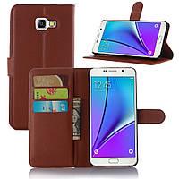 Чехол-книжка Litchie Wallet для Samsung A520 Galaxy A5 2017 Коричневый