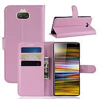 Чехол-книжка Litchie Wallet для Sony Xperia 10 Plus Светло-розовый