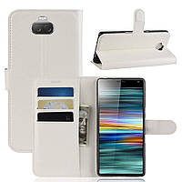 Чехол-книжка Litchie Wallet для Sony Xperia 10 Белый