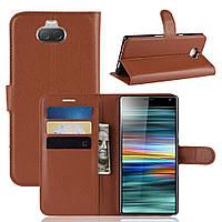 Чехол-книжка Litchie Wallet для Sony Xperia 10 Коричневый