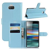 Чехол-книжка Litchie Wallet для Sony Xperia 10 Голубой