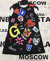 Детское брендовое платье для девочки D&G черного цвета