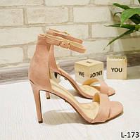 37 р. Босоножки женские розовые пудра замшевые на высоком каблуке, на шпильке, шпилька, из замши,замша,летние
