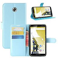 Чехол-книжка Litchie Wallet для Motorola Nexus 6 XT1103 Голубой