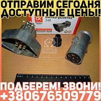 ⭐⭐⭐⭐⭐ Вилка-розетка 24В КАМАЗ,МАЗ (Дорожная Карта)  5320-3723156