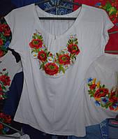 """Жіноча вишита футболка """"Польова квітка"""""""