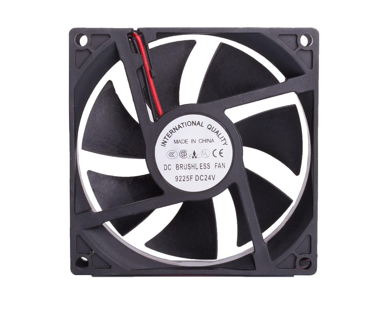 Вентилятор 24 V 90х90х25мм диагональ по болтам 115 мм