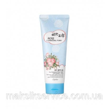 Пенка для лица с розой Esfolio Pure Skin Rose Cleansing Foam