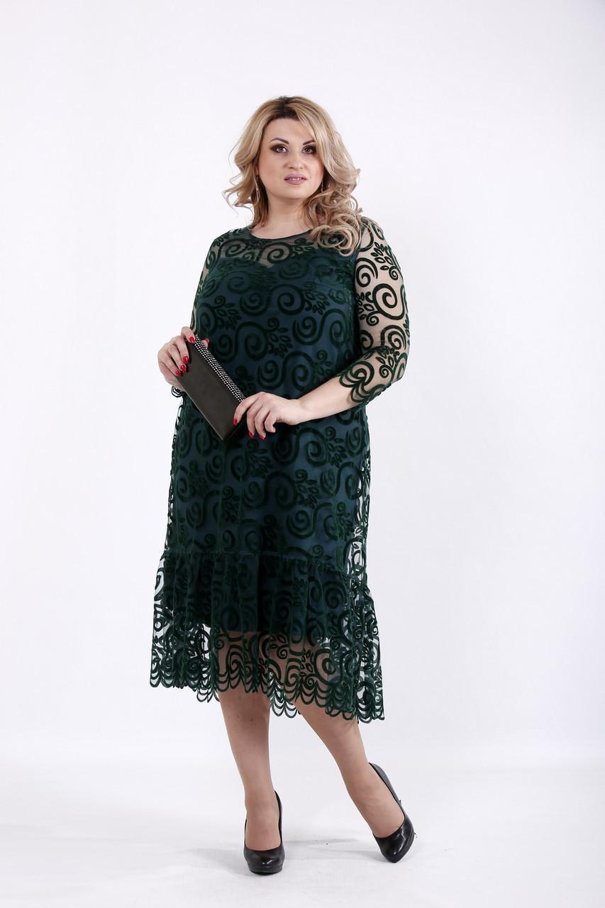 зеленое нарядное платье больших размеров 1064 62 1 050 грн купить