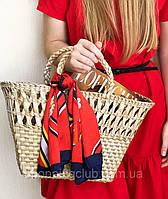 Соломенная сумка летняя плетеная сумка