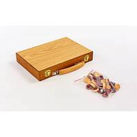Нарды настольная игра деревянные NN-4 (28см x 40см)
