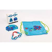 Набор для плавания детский: очки, шапочка, сумка SPEEDO NP-16 SEA SQUAD (ТPR,силикон,латекс)