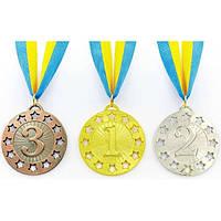 Медаль спортивная с лентой WIN 1-золото, 2-серебро, 3-бронза