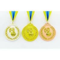 Медаль спортивная с лентой двухцветная Волейбол 1-золото, 2-серебро, 3-бронза
