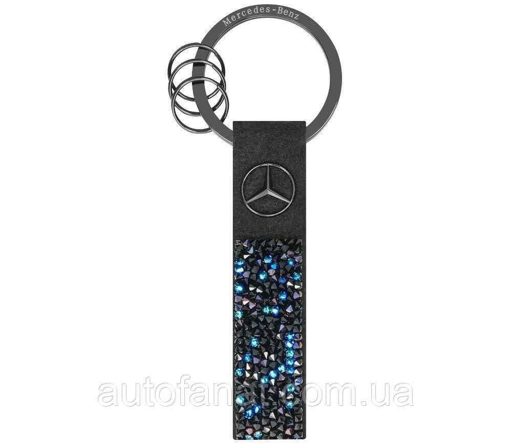 Оригинальный брелок Mercedes-Benz Key Ring, Milano, Black Edition, Black / Blue, Swarovski (B66953571)