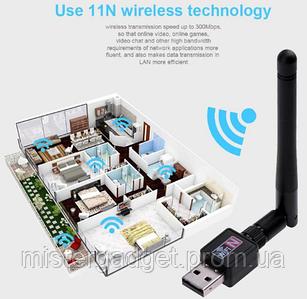 Антенна WiFi для пк c USB входом300Mbps