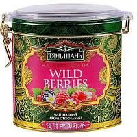"""Чай зеленый Тянь Шань """"Лесные ягоды"""" в пирамидках"""
