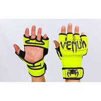 Перчатки для смешанных единоборств MMA PU VENUM (р-р M, L) PG-62