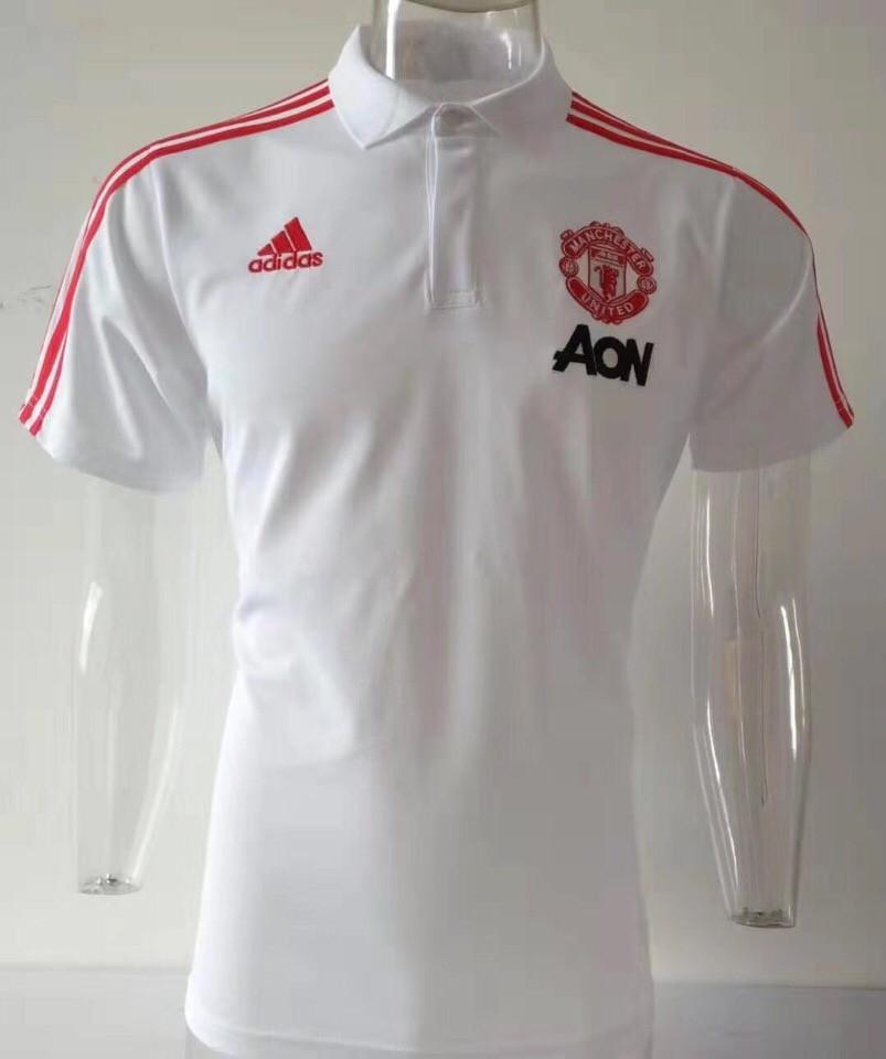 Футбольная футболка поло Манчестер Юнайтед белая M