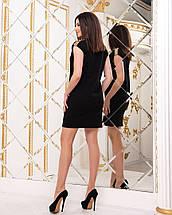 """Короткое трикотажное платье """"Сидни"""" с пайетками на плечах , фото 2"""