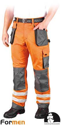 Брюки рабочие сигнальные LEBER&HOLLMAN (рабочая одежда сигнальная) LH-FMNX-T PSB, фото 2