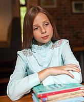 Блузка школьная нарядная 8022 мятный Опт