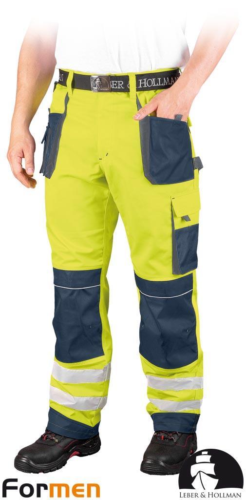 Штани робочі сигнальні LEBER&HOLLMAN (робочий одяг сигнальна) LH-FMNX-T YGS