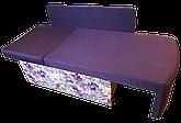 Диван дитячий Шпех 70см (Феліція+фіолетовий). Диванчик зі спальним місцем 2 метри, фото 2