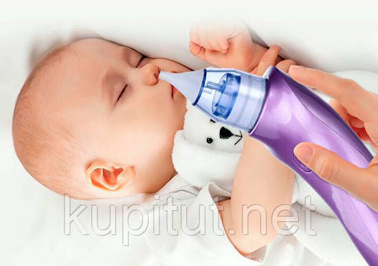 Аспиратор для носа (соплеотсос) «Baby Style» 2 в 1 (+ вакуумный очиститель пор лица от чёрных точек)