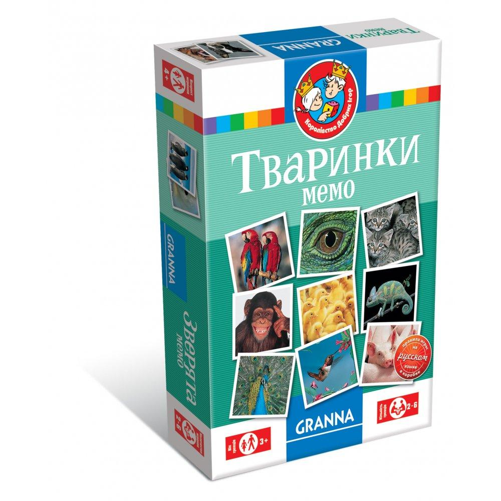 """Настольная игра Granna Мемо """"Животные"""" (82319)"""