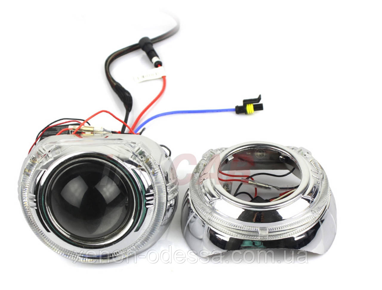"""Маска для ксеноновых линз 3.0"""" : S-MAX  со светодиодными Ангельскими Глазами LED CREE"""