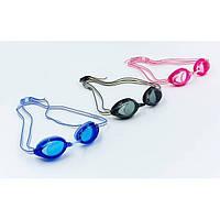Очки для плавания детские SPEEDO VANQUISHER JR OK-63 (поликарбонат, силикон, цвета в ассортименте)
