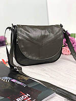 e5feb1f2d672 Маленькая женская кожаная сумочка сумка кроссбоди натуральная кожа оливка  11485/8