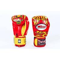 Перчатки боксерские кожаные на липучке TWINS (р-р 10-14oz) BP-48